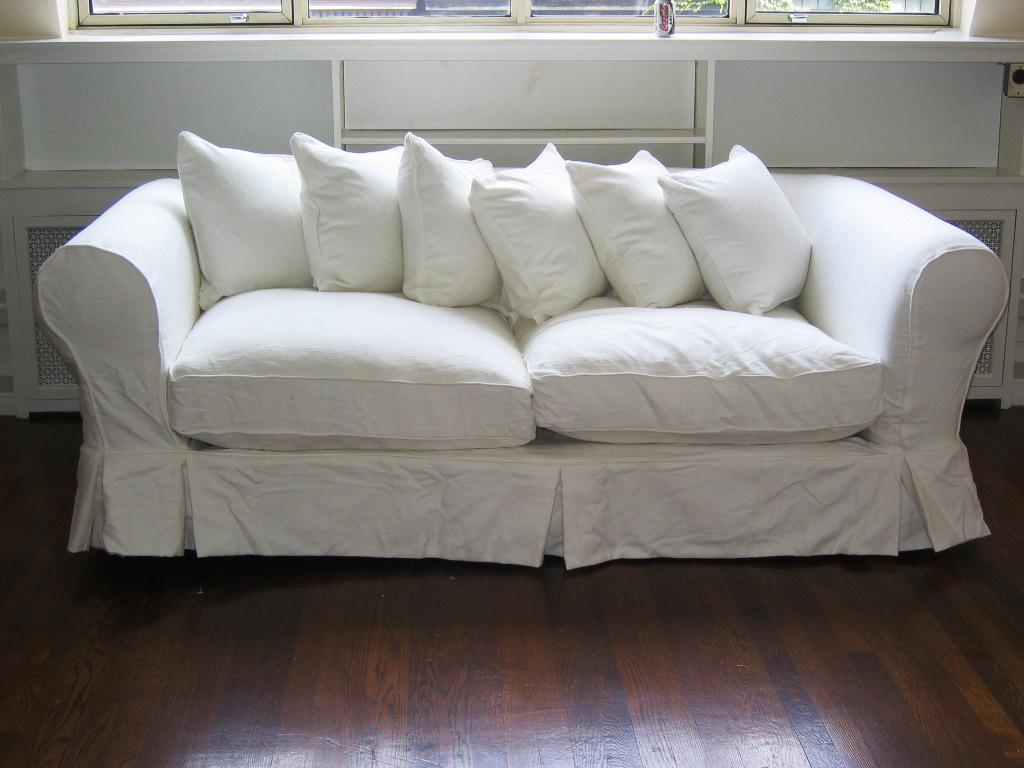 Slip Cover Chairs White Loveseat Slipcover Home Furniture Design