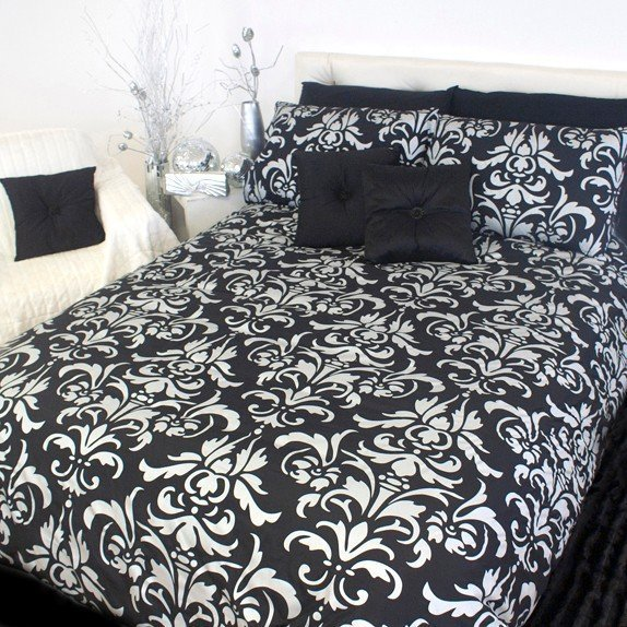 Black And White Damask Duvet Cover Home Furniture Design