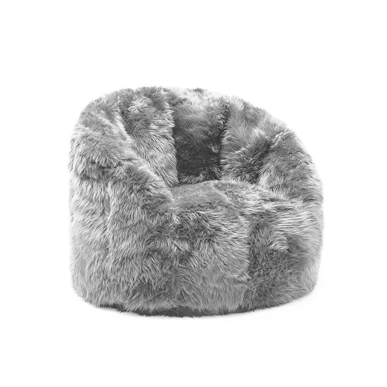 f100800c42 Furry Bean Bag Chair Home Furniture Design