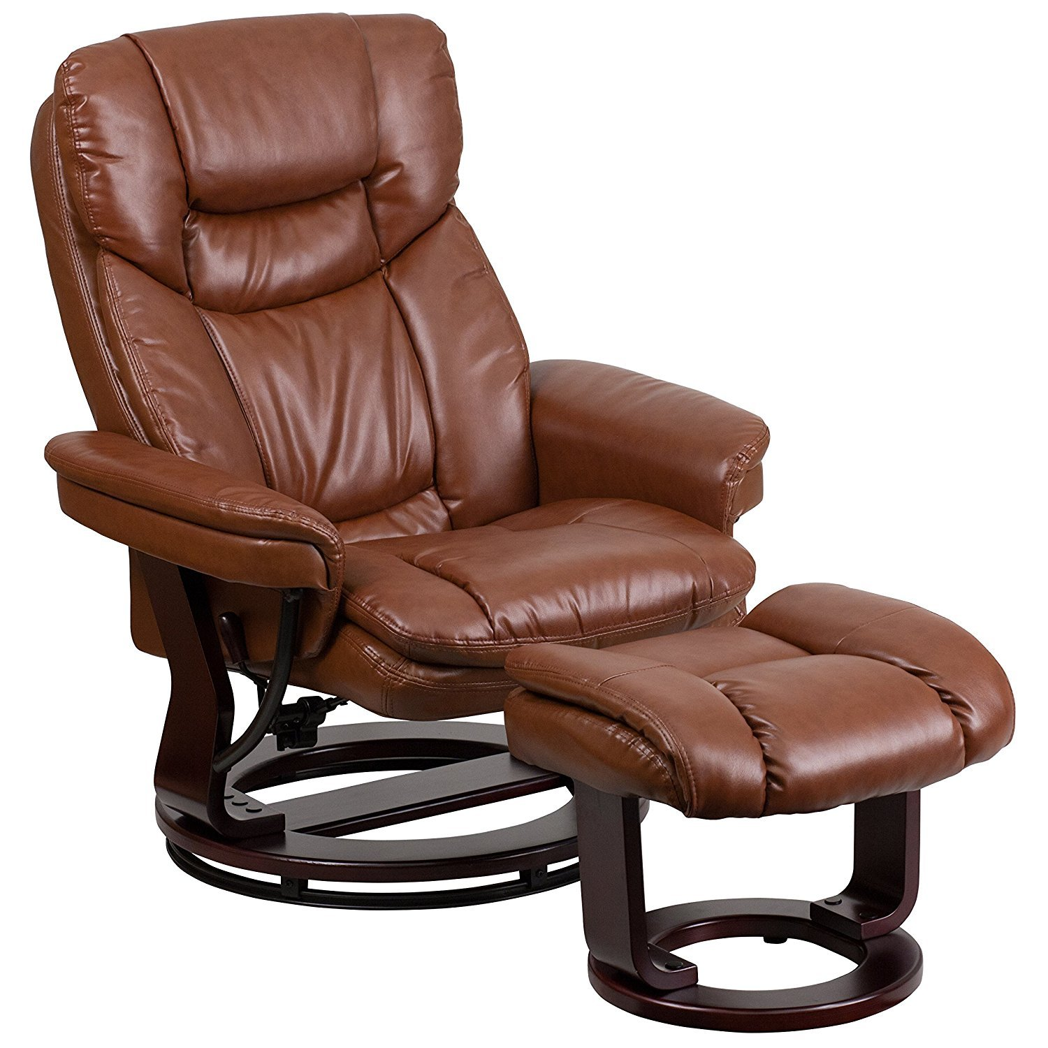 Leather Living Room Chair Leather Swivel Chairs For Living Room Home Furniture Design