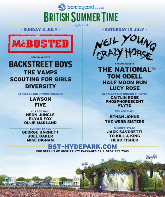 British Summer Time lineup 2014