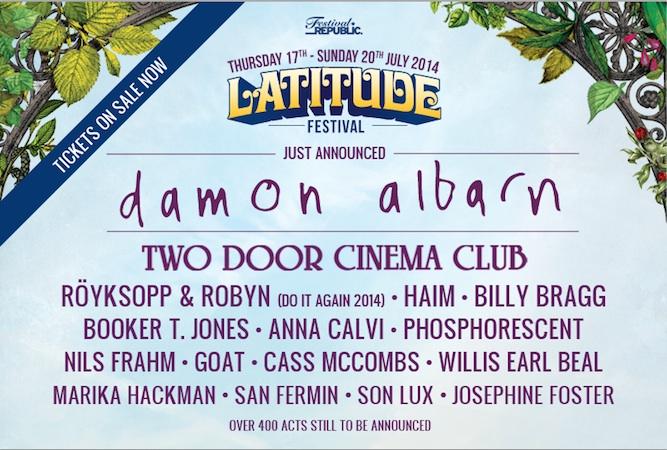 Damon Albarn confirmed as Latitude Festival headliner