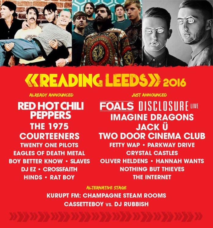 Leeds Reading Lineup 2016 2 Jan