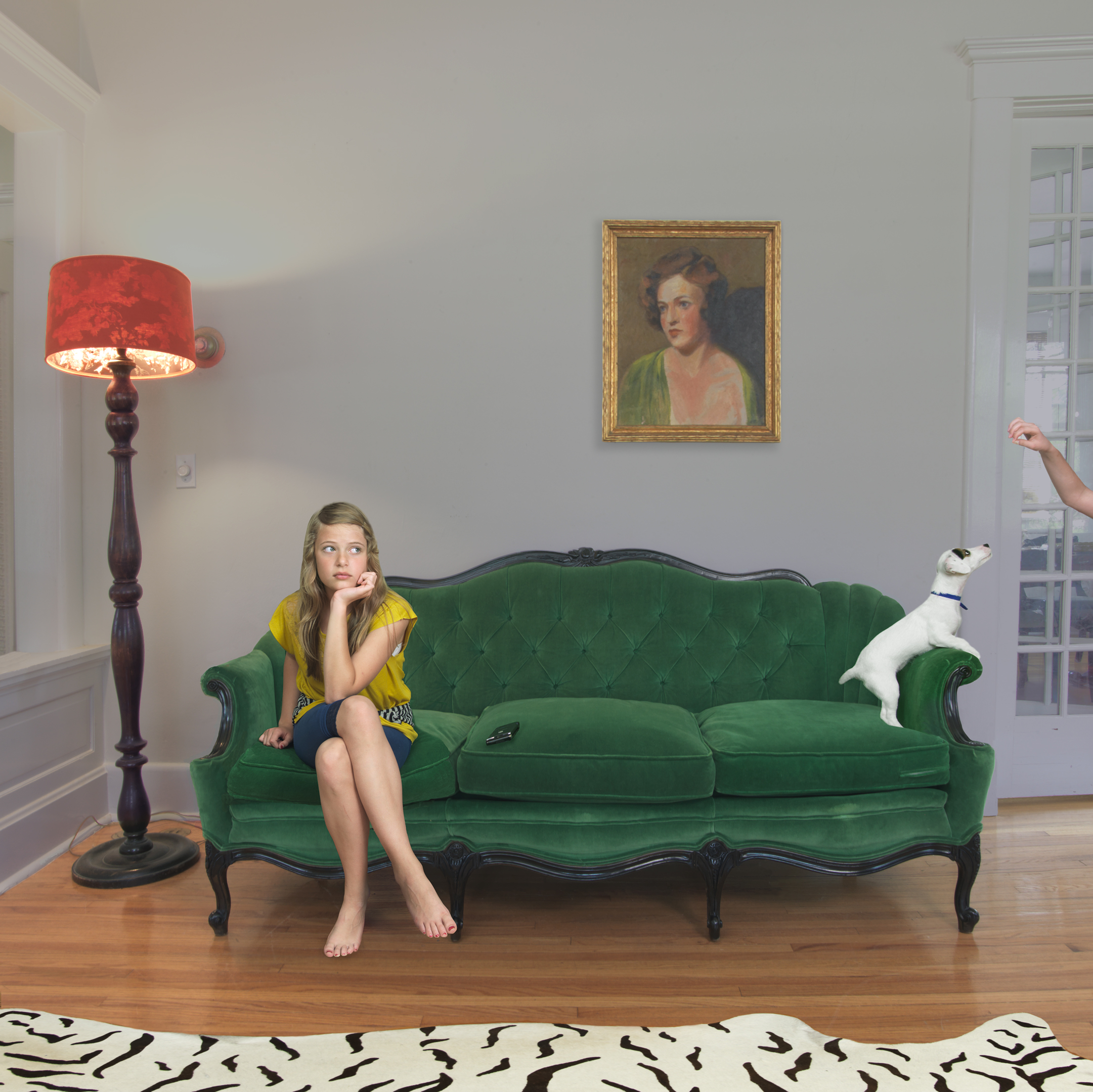 emerald green velvet sofa bed leather for sleeping domestic vacations by julie blackmon staged photography