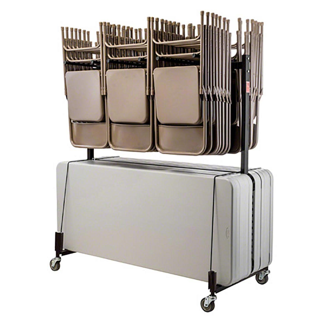 Folding Chair Storage National Public Seating 42 8 Combination Folding Chair