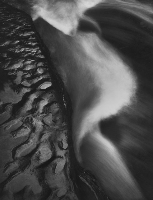"""Water and Rock, Stony Brook, NY from the """"Mother of Pearls"""" portfolio, a tribute to Minor White © William Giles."""