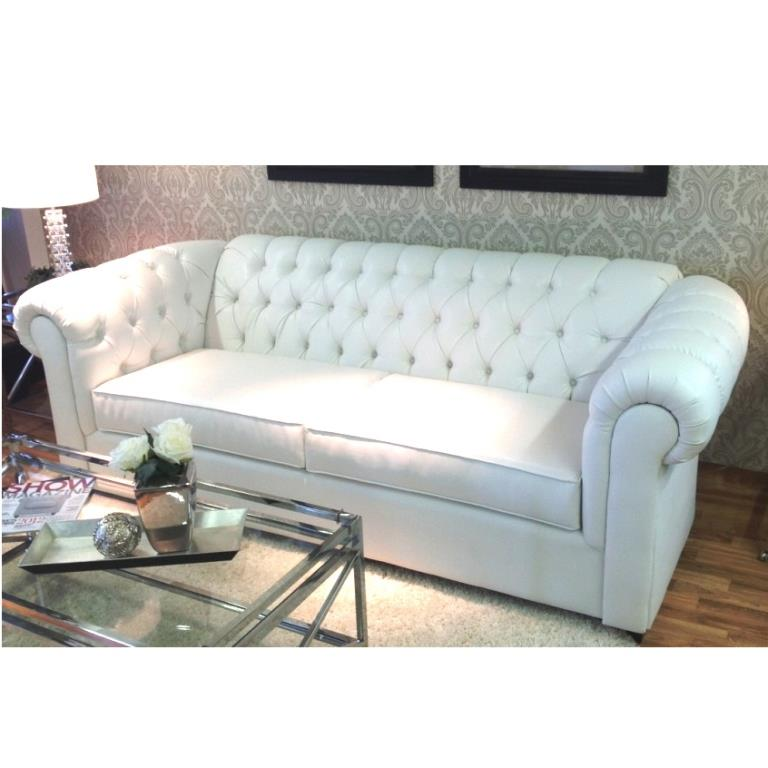 tufted sofa white l toronto furniture rental for home staging by stagers source