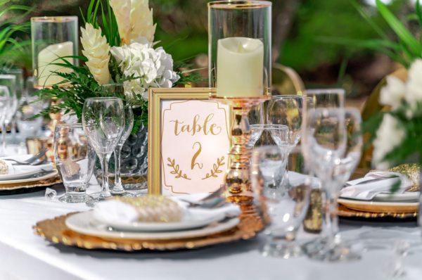 Gold + White Tablescape