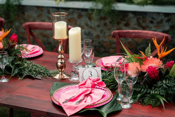 Tropical Table Place Setting