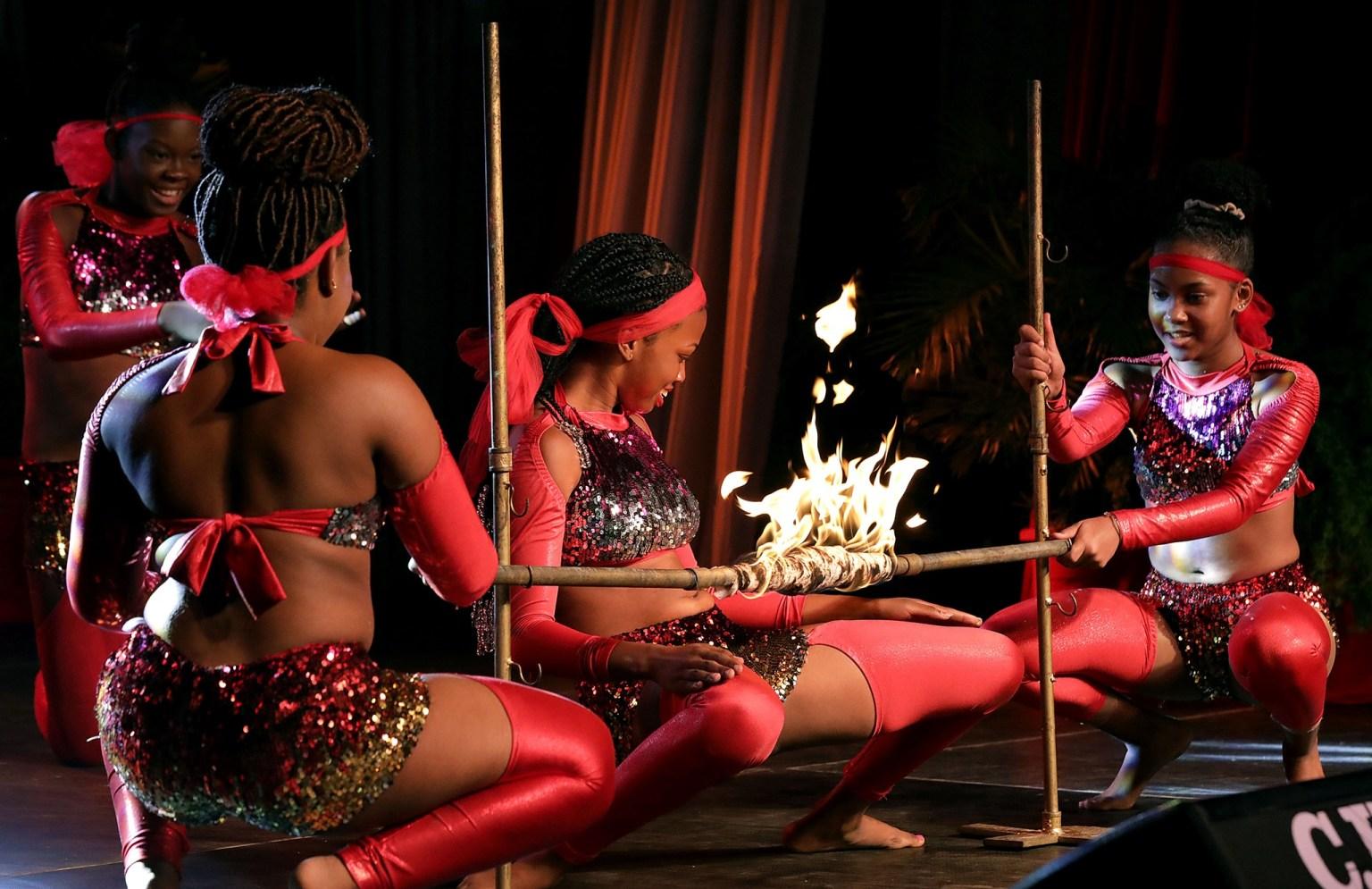 Flaming Limbo Dance