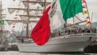 Cuauhtémoc, trois-mâts barque école mexicain