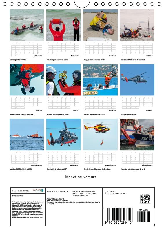 4 de couverture calendrier mer et sauveteurs