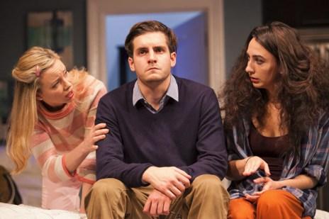 Bad Jews - Antonia Kinlay (Melody), Daniel Boyd (Liam), Ailsa Joy (Daphna) - Photo credit Nick Spratling