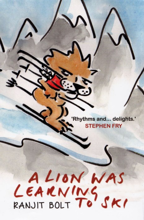 A LION WAS LEARNING TO SKI
