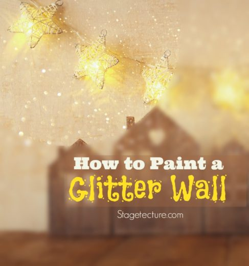 Wall Art Tutorial: How to Use Glitter Wall Paint
