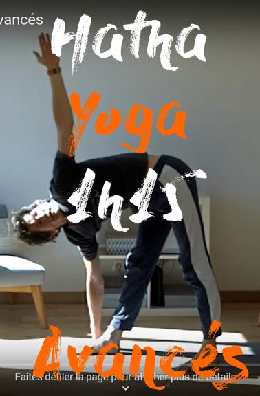 séance de hatha yoga  1h15 avancés