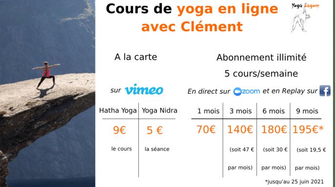 cours de yoga en ligne avec Clément LEURENT