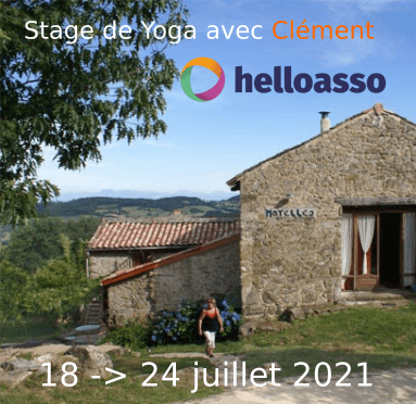 Stage yoga Ardèche juillet 2021