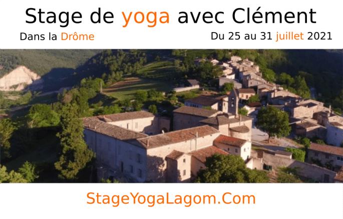stage yoga drôme juillet 2021 avec Clément