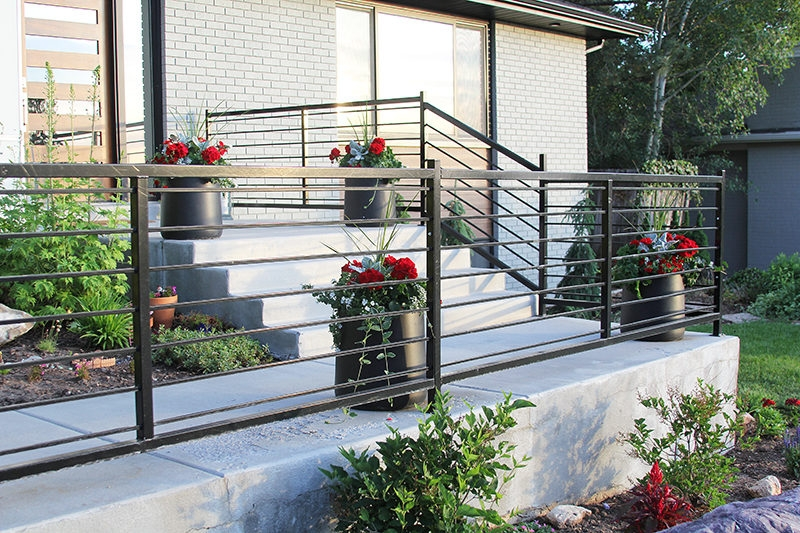 Modern Exterior Railing Stagg Design   Exterior Handrails Near Me   Wire   Iron   Screen   Diy   Post