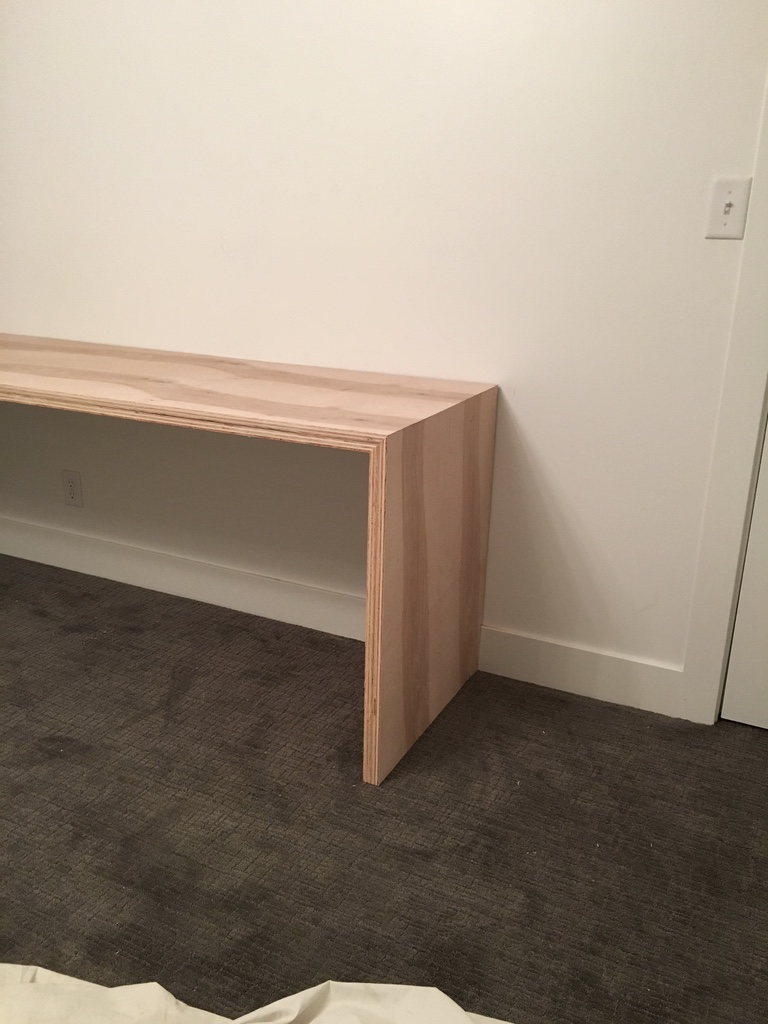 Plywood Desk Design : plywood, design, Built-in, Waterfall, Stagg, Design
