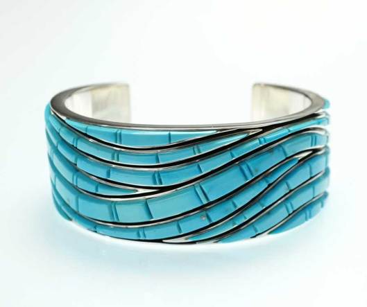 Earl Plummer Sleeping Beauty Cobbled Wave Bracelet