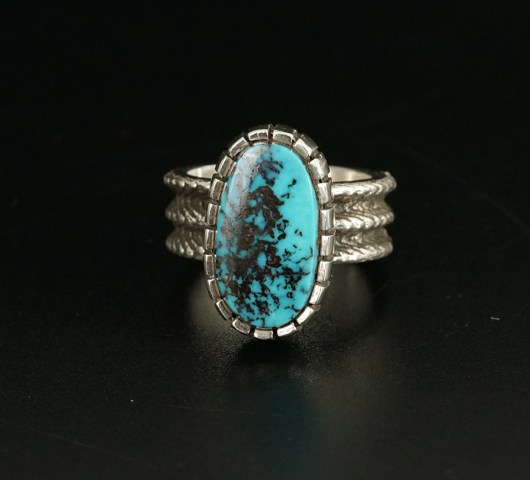 Native American Jewelry Althea Cajero Sterling Silver Royston Turquoise Ring