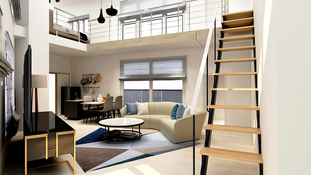バーチャルホームステージング-事例-デザイナーズマンション
