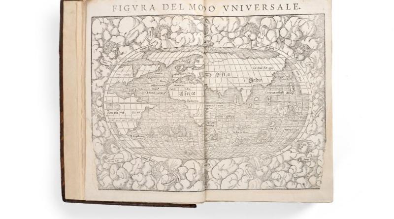 Antique book Cosmographica