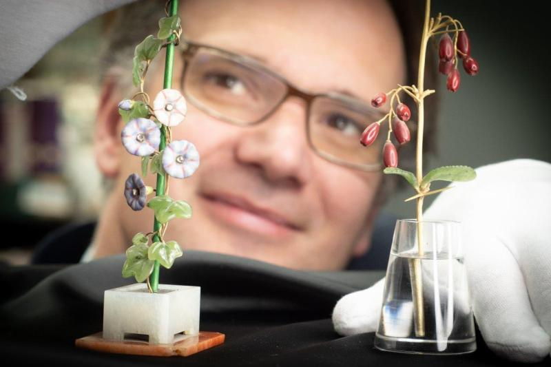 Charles Hanson and Faberge flowers