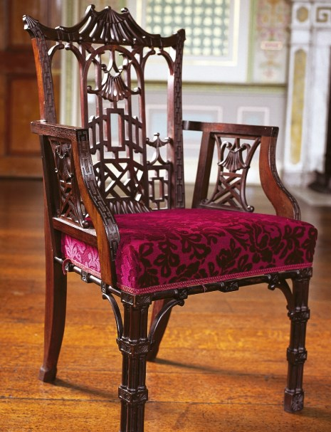 chair from Gillows in 1763 in the Chinese style,