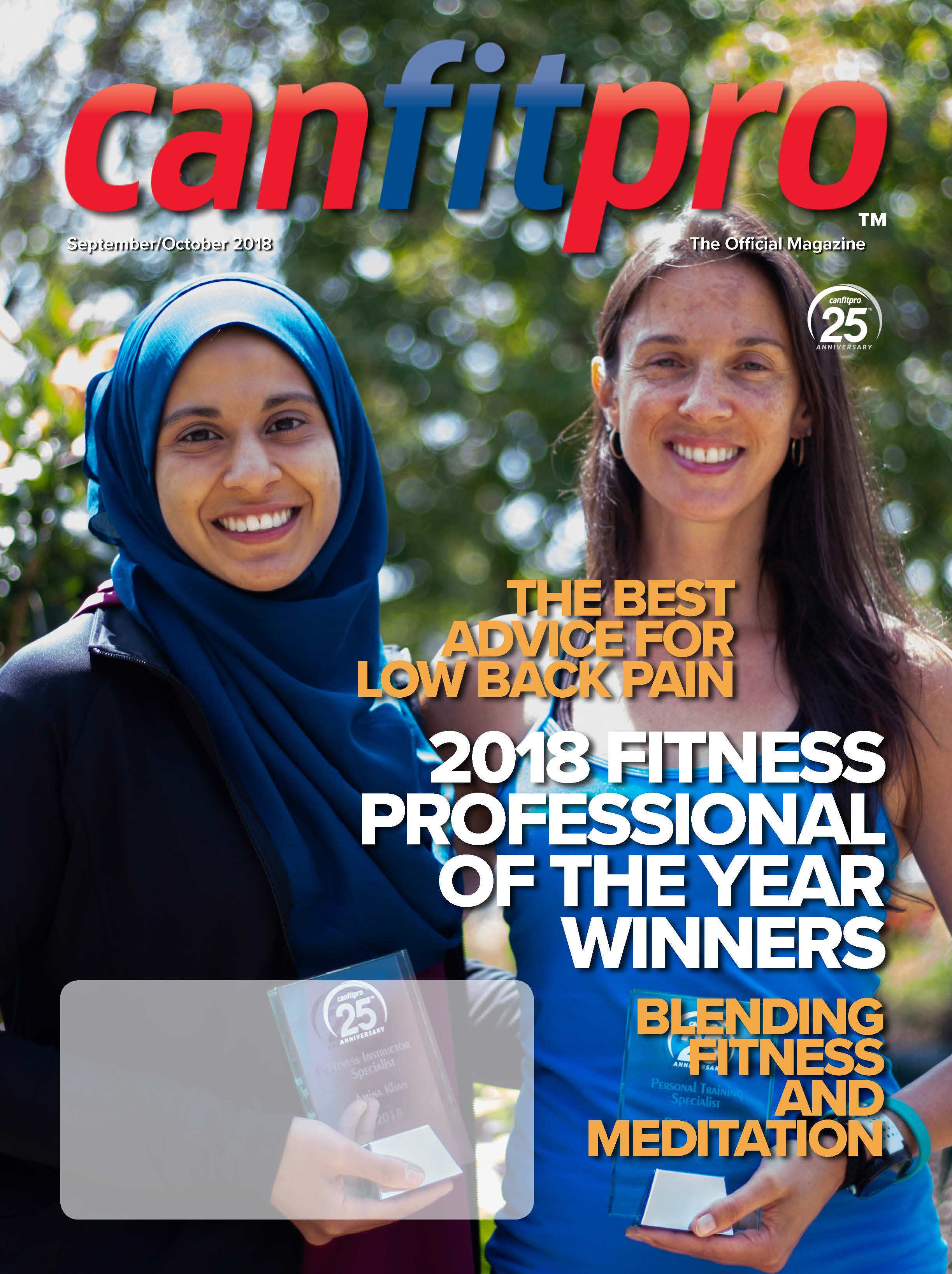 canfitpro Magazine | Sep/Oct 2018 cover