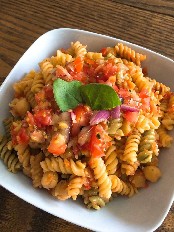 Recipe_Chickpea bruschetta pasta