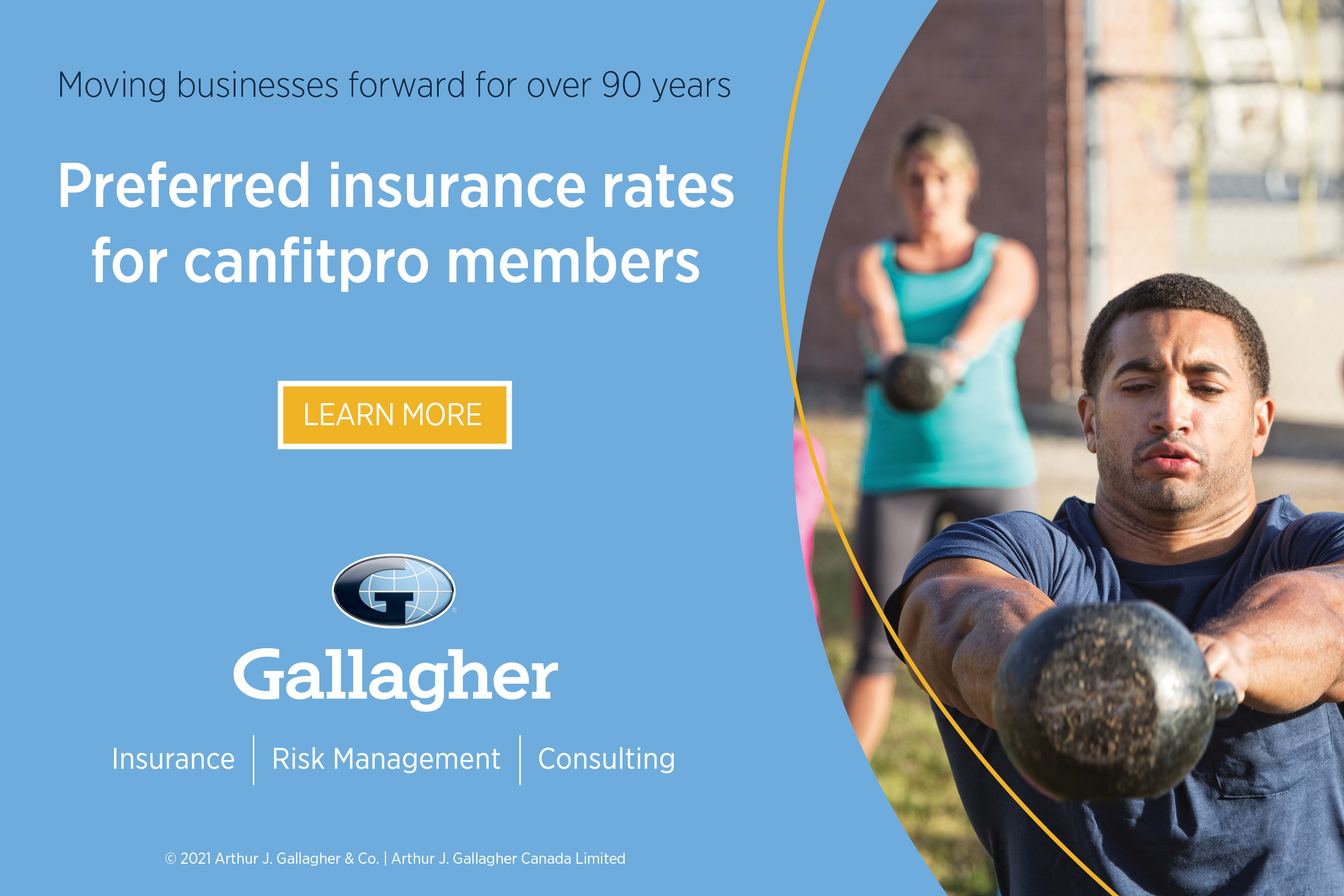 Gallagher Ad Banner - Business event