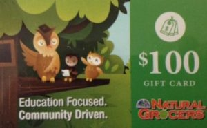 photo of a Natural Grocers gift debit card