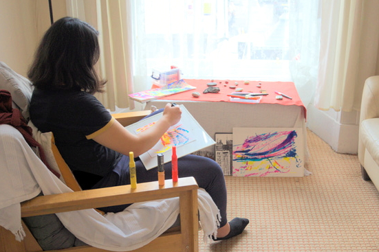 Expression and relaxation - explore creatively through drawing and meditation