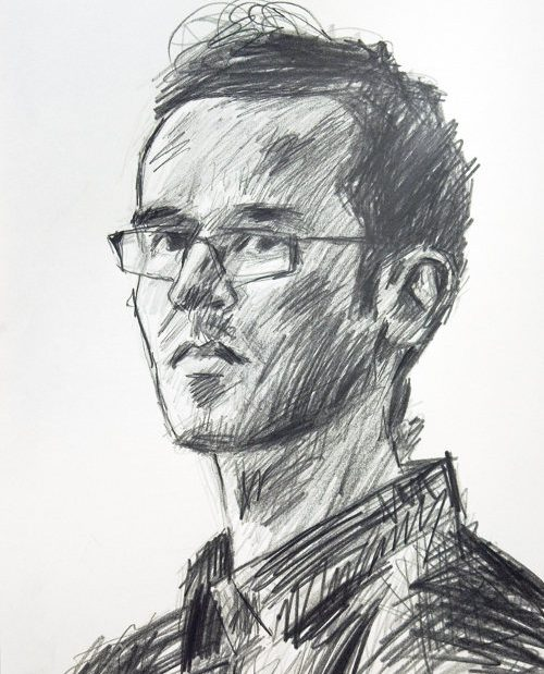 selfportrait graphite Blair Thomson