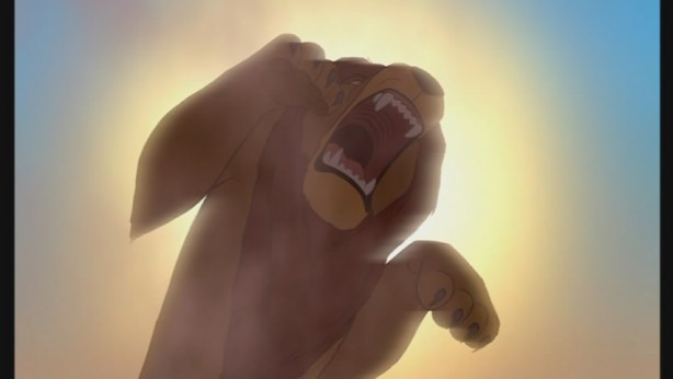 Mufasa leaps for freedom....