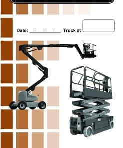Aerial lift Daily Checklist Caddy