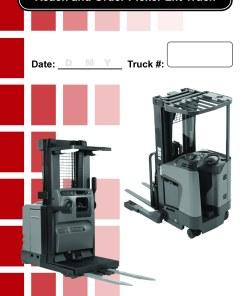 Narrow Aisle Forklift Daily Checklist Caddy