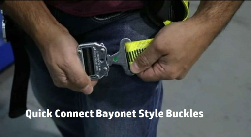 EZ-Fit Comfort Harness Quick Connect Bayonet Style Buckles