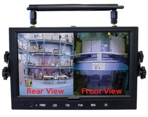Safe-View Split Screen Rear View and Front View
