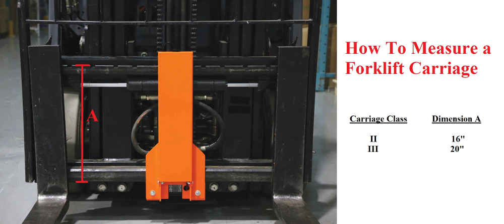 How to Measure a Forklift Carriage