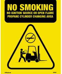 Safety Sign No Smoking Propane Changing