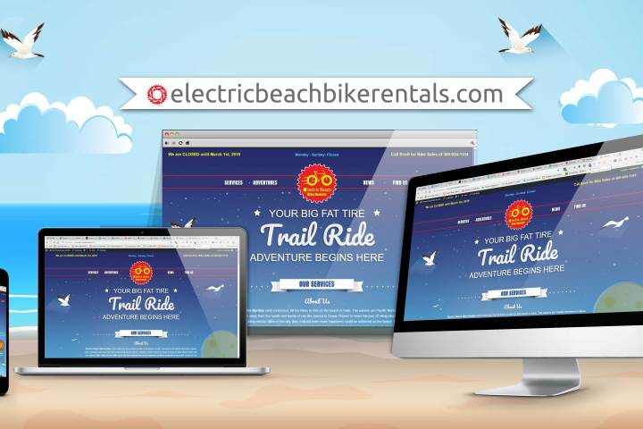 Electric Beach Bike Rentals Website