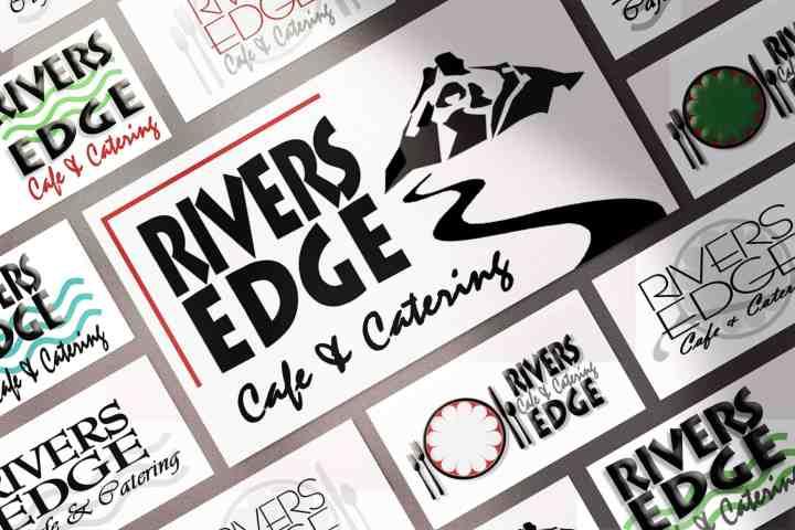 Rivers Edge Logo Process