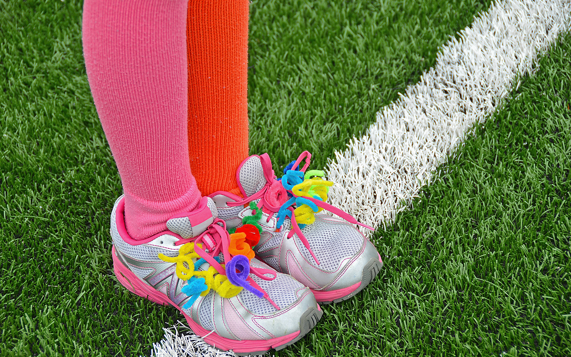 Mindful Parenting: 5 Tools to Set Healthy Limits for Your Child - pipe cleaners on sports shoe
