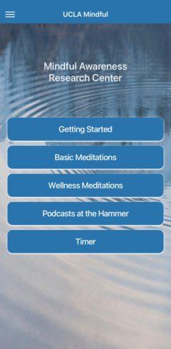 UCLA Mindful app screenshot