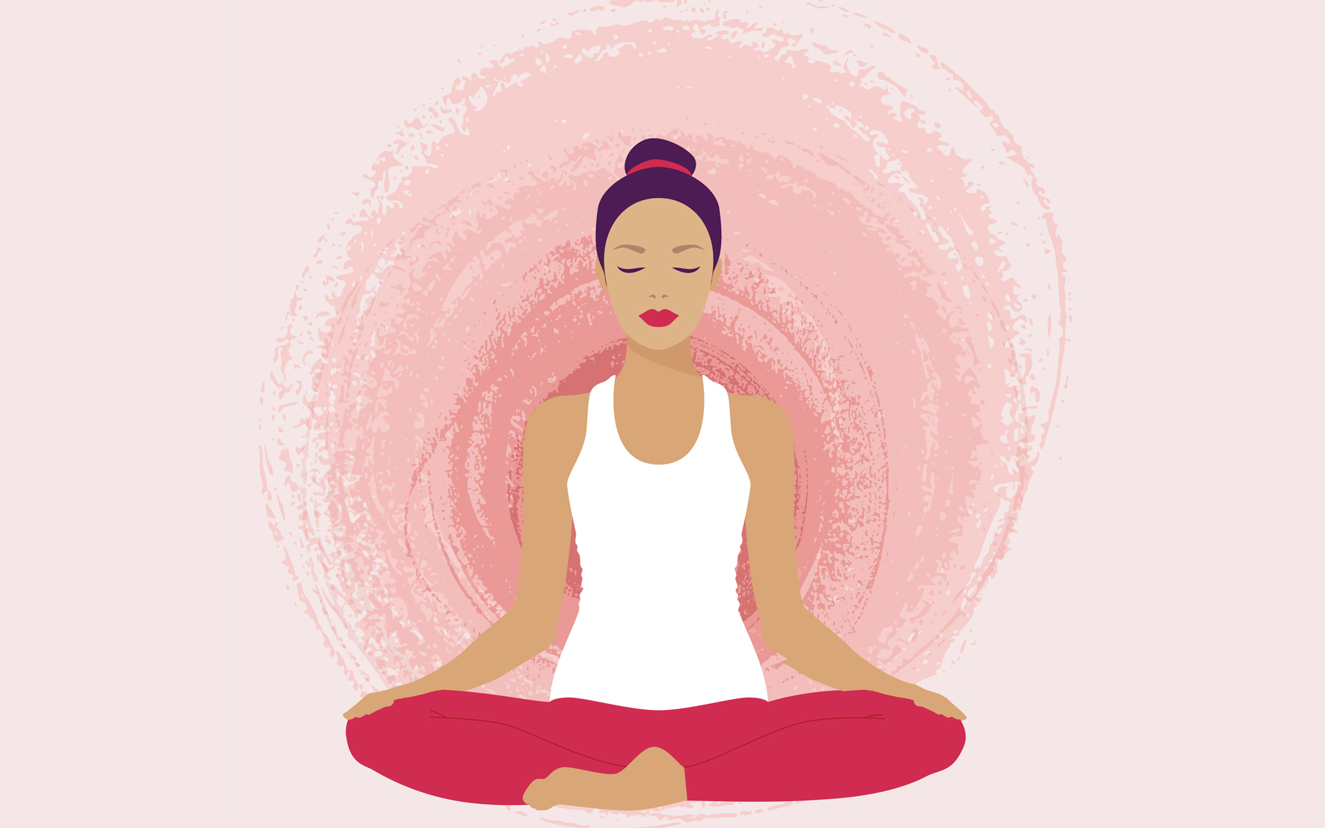 illustration of woman in seated meditation pose