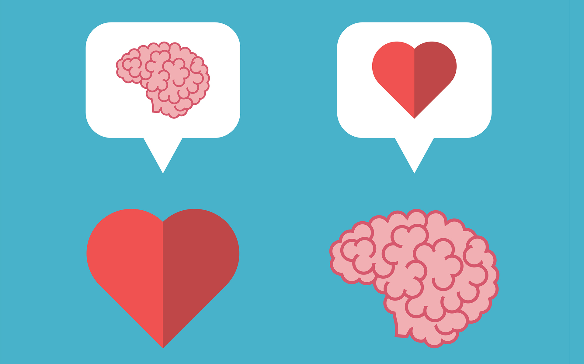 Investigating Your Emotions Without Suppressing Them - Mutual love brain, heart